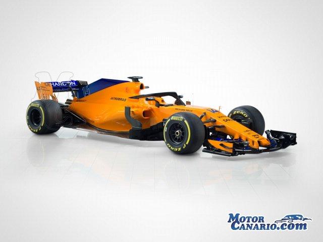 McLaren desveló su `papaya naranja` para el 2018.