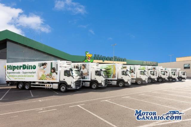 Supermercados HiperDino incorporan 8 nuevos Volvo a su flota.