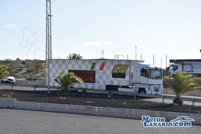 Especial llegada equipos extranjeros Subida Arona - La Escalona.